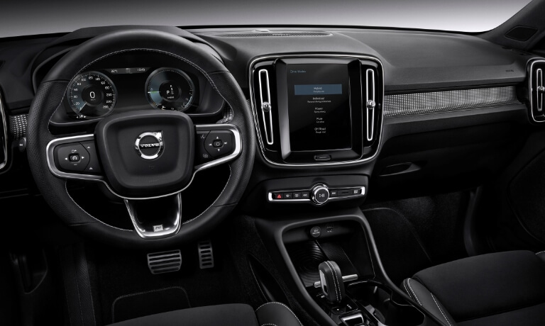 New Volvo XC40 Interior dashboard view