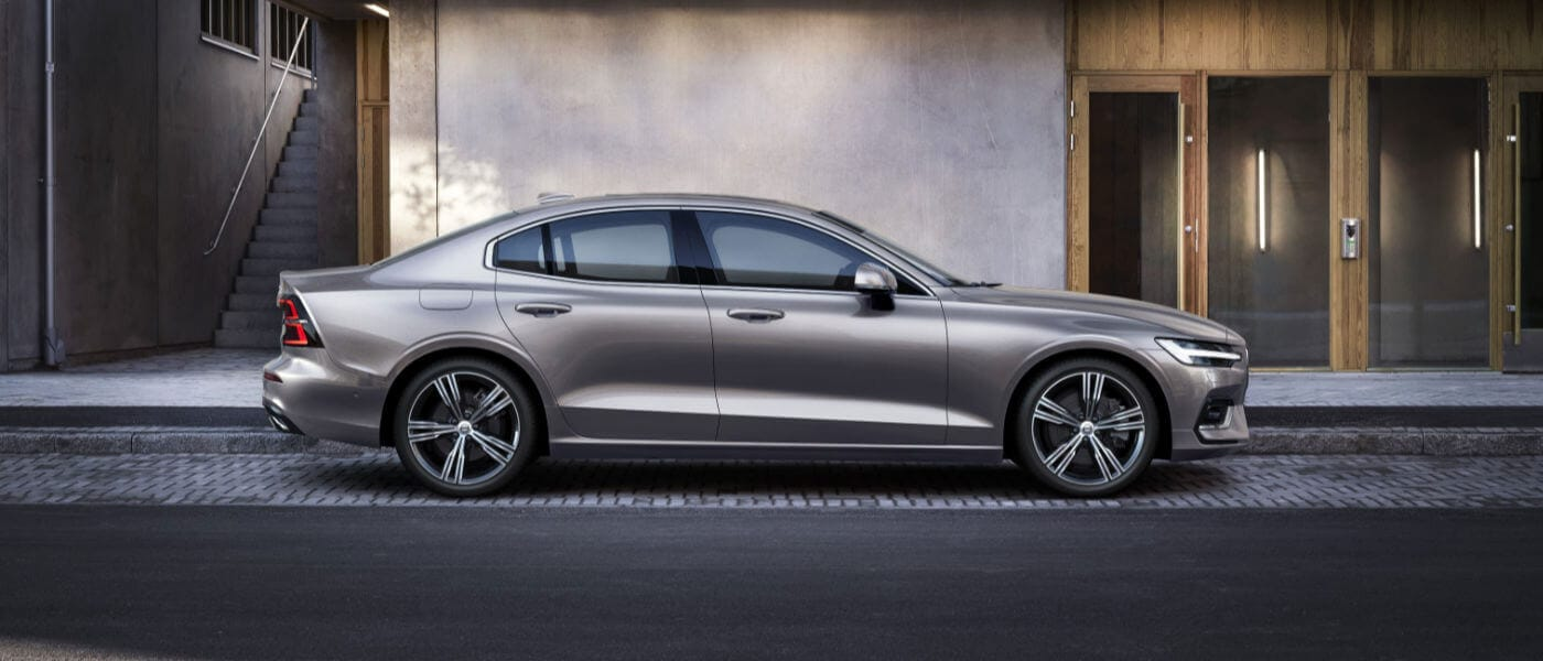 New Volvo S60 side exterior view