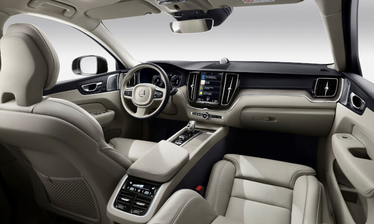 New Volvo XC60 interior front dashboard view