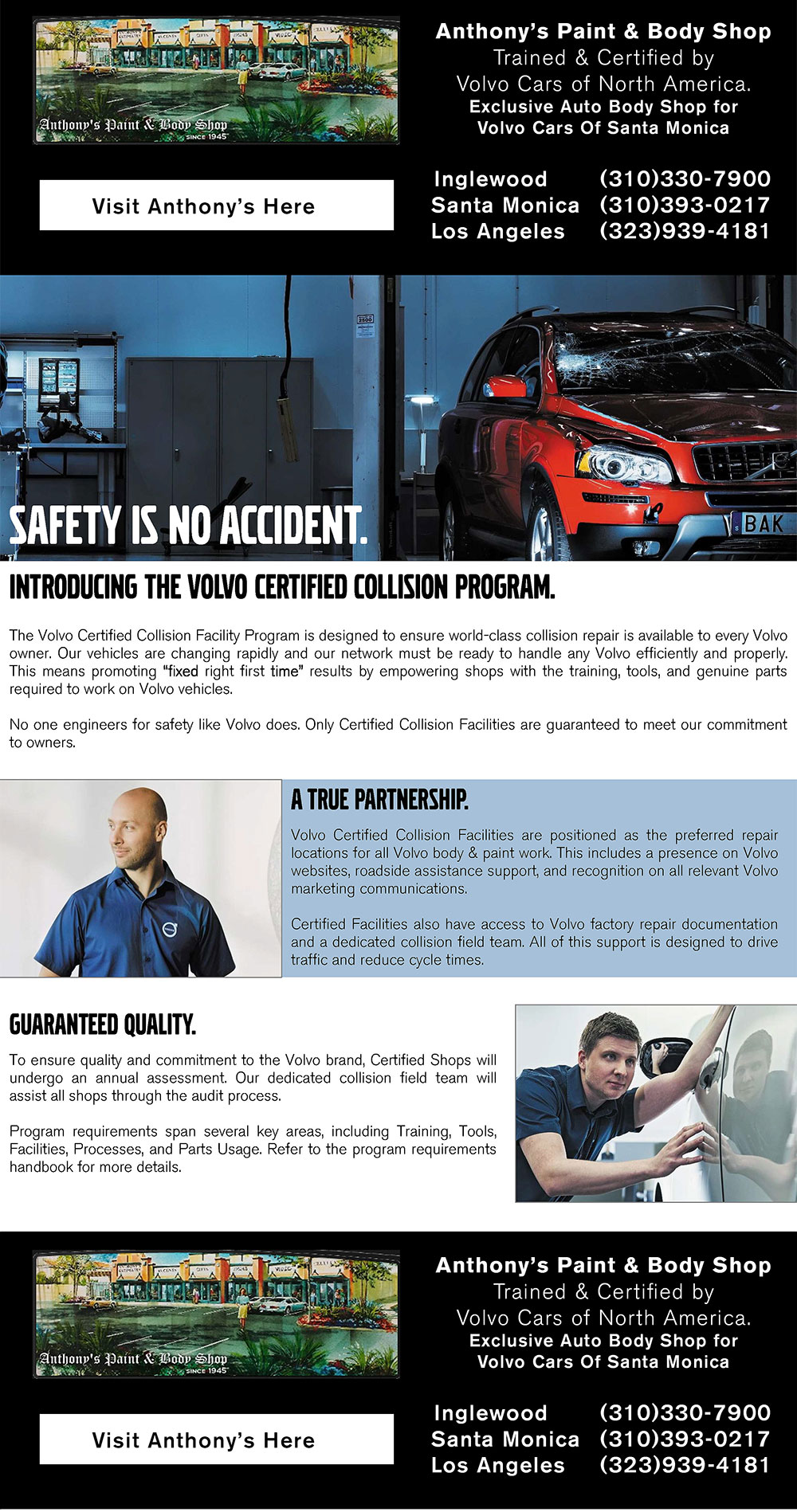 Volvo Certified Collision Facility(VCCF) Program | Volvo Cars Santa Monica
