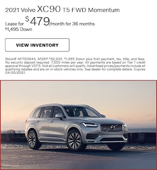 2021 Volvo XC90 T5 FWD Momentum