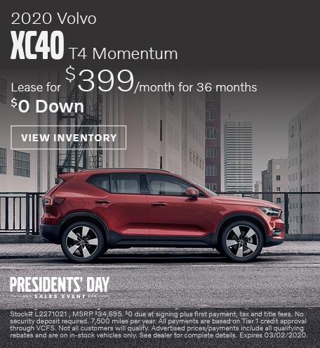 February 2020 Volvo XC40 T4 Momentum