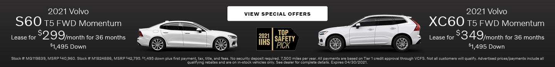 2021 Volvo S60 T5 FWD Momentum & 2021 Volvo XC60 T5 FWD Momentum