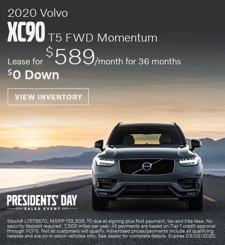 February 2020 Volvo XC90 T5 FWD Momentum
