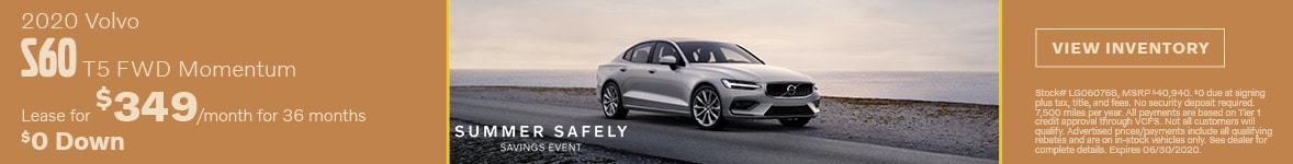 2020 Volvo S60 T5 FWD Momentum