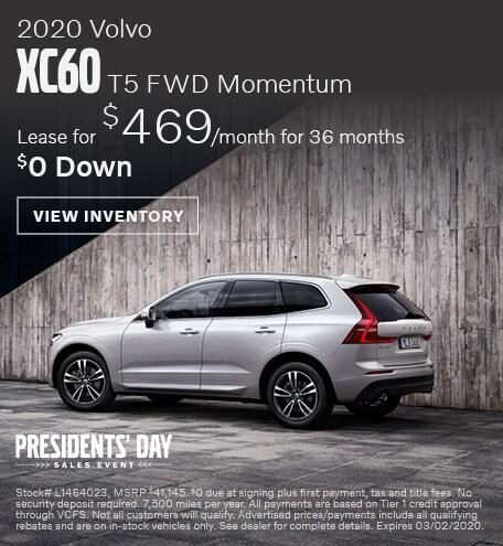February 2020 Volvo XC60 T5 FWD Momentum