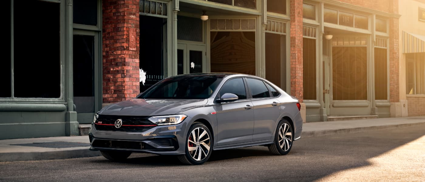 2019 Grey VW Jetta GLI Parked