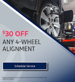 $30 Off Any 4-Wheel Alignment