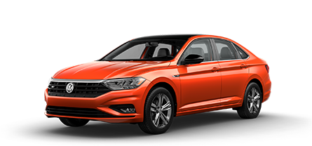 2019 Orange VW Jetta R-Line