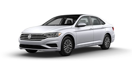2019 White VW Jetta SE