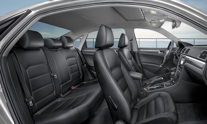 2019 VW Passat Passenger Side Leather Interior Shot