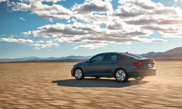 2019 Grey VW Jetta GLI Driving in the Desert