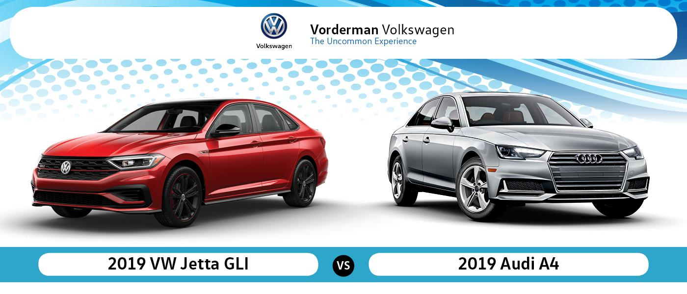 2019 VW Jetta GLI vs Audi A4 near Youngstown, IN