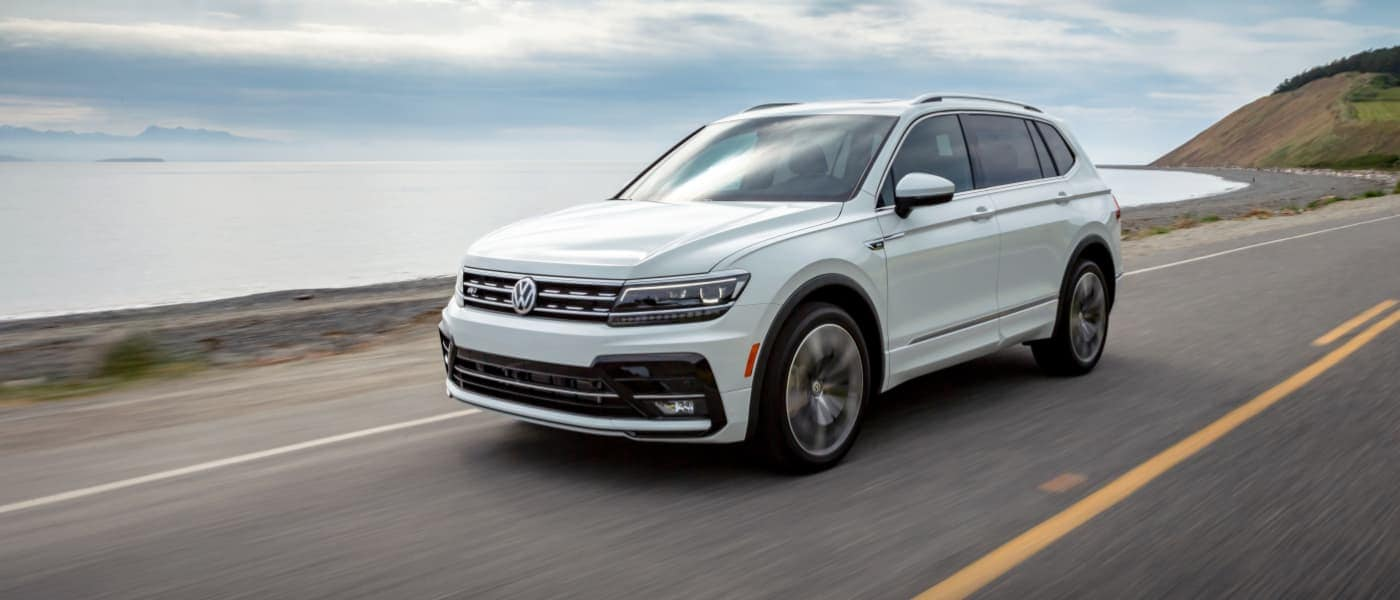 2019 VW Tiguan Driving by the Ocean