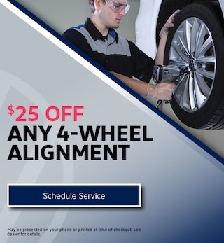 $25 Off Any 4-Wheel Alignment
