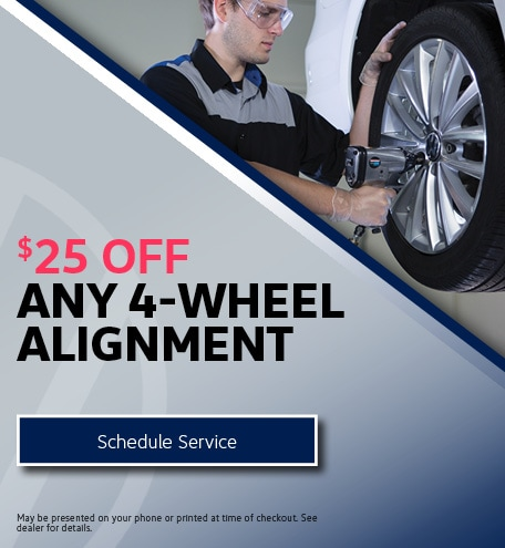 $25 Off Any 4-Wheel Alignment