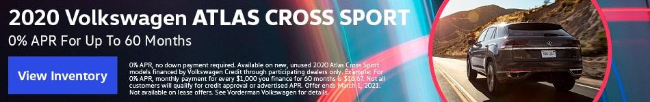 2020 Volkswagen Atlas Cross Sport January