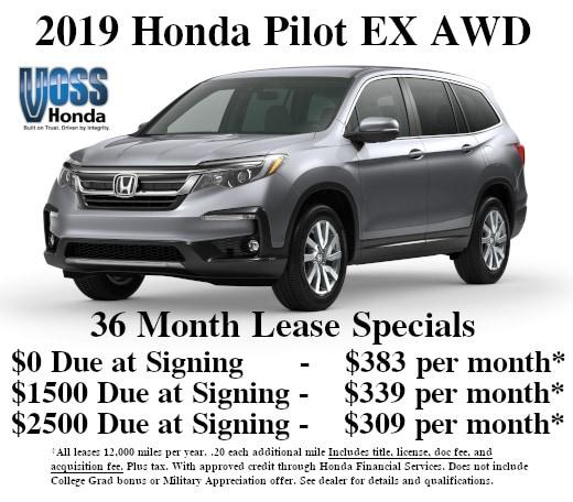 Honda Pilot Lease >> New Honda Lease Specials Deals In Tipp City Oh Near Dayton