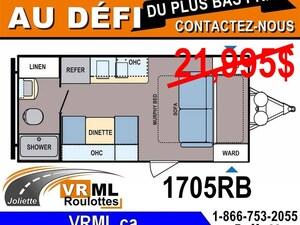 2018 COLEMAN 1705RB *** Obtenez LE MEILLEUR PRIX Chez VRML ***