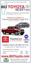 Toyota Service Maintenance Schedules