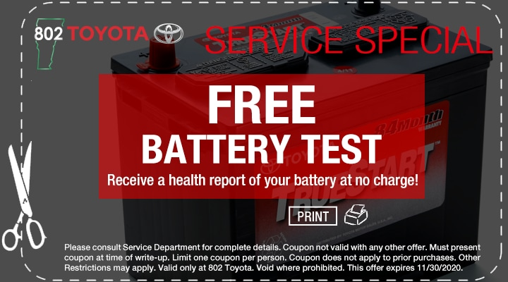 Battery Test Coupon