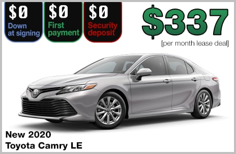 Camry zero down lease deal