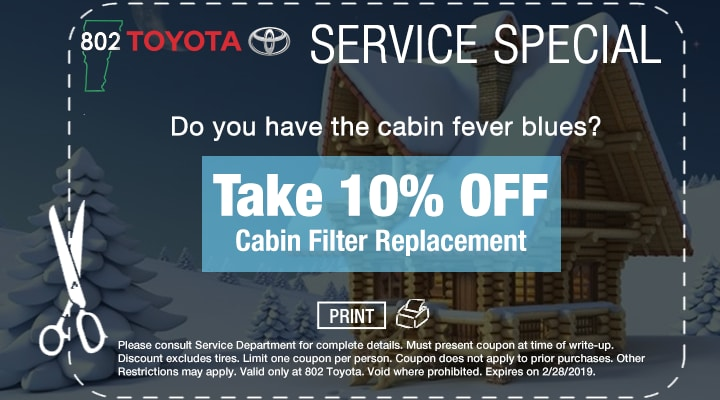 Cabin Filter Service Coupon