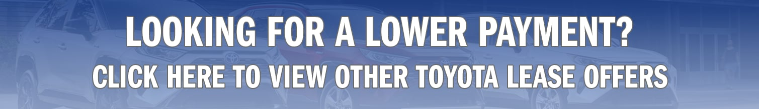 Toyota Low Payment Lease Deals