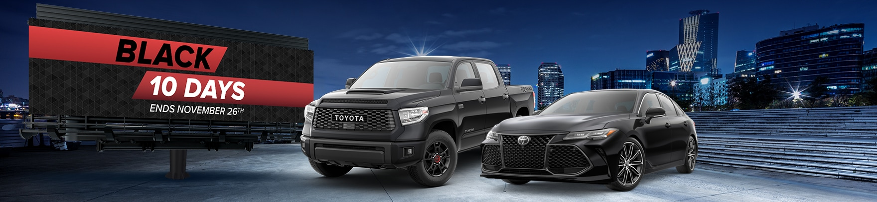 Toyota Black 10 Day Sales Event
