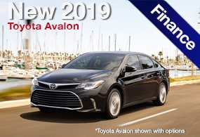 Delightful 1.9% Financing On An All New 2019 Avalon Models!