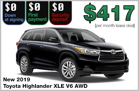 Highlander Lease Deal