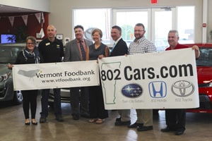 802Cars.com Drive for Charity Vermont Foodbank