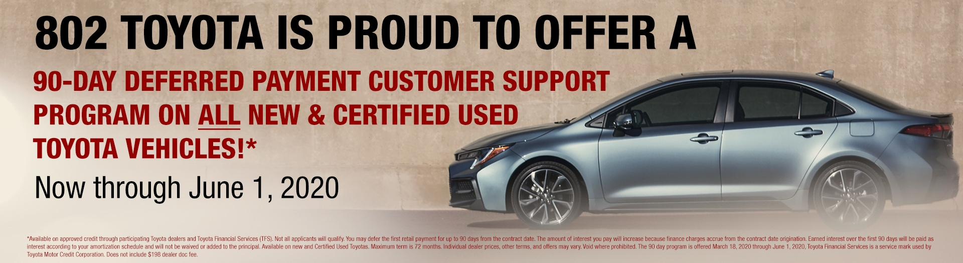 Toyota 90 Day deferment
