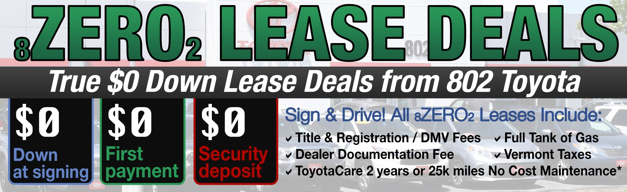 802 Toyota Zero Down Lease Deals