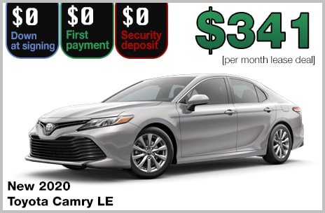 Toyota Camry Lease >> Zero Down Toyota Lease Deals 802 Toyota Of Vermont