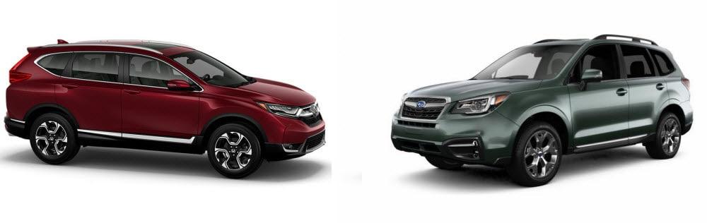 Honda CR-V versus Subaru Forester