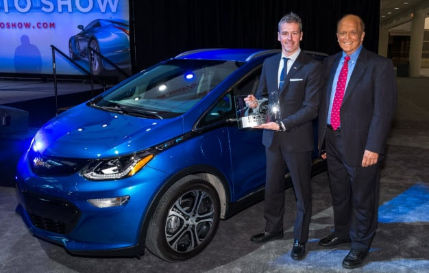 Chevy Bolt Best Car of the Year Award