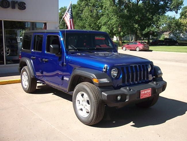 New 2019 Jeep Wrangler UNLIMITED SPORT S 4X4 Sport Utility for sale in Cooperstown, ND at V-W Motors, Inc.