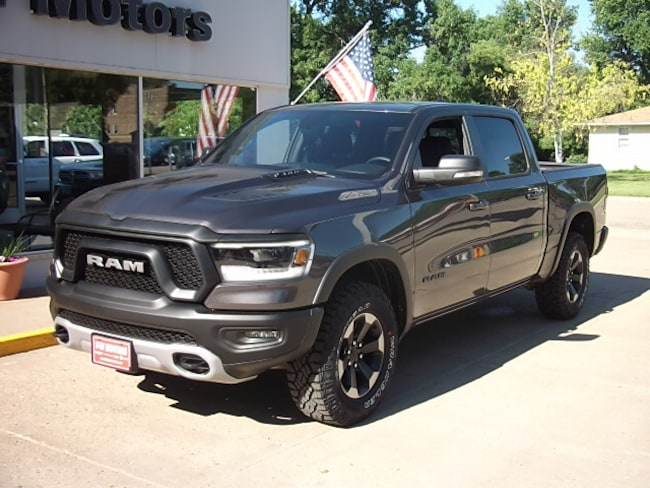New 2019 Ram 1500 REBEL CREW CAB 4X4 5'7 BOX Crew Cab for sale in Cooperstown, ND at V-W Motors, Inc.