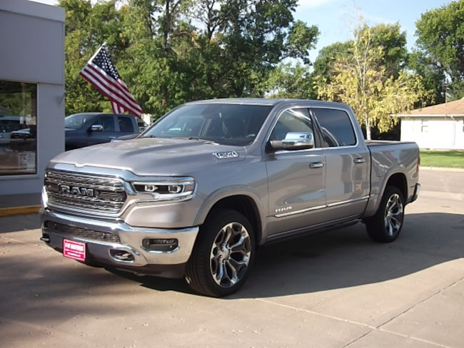New 2019 Ram 1500 LIMITED CREW CAB 4X4 5'7 BOX Crew Cab for sale in Cooperstown, ND at V-W Motors, Inc.