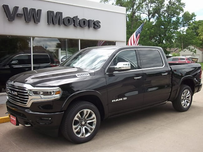 New 2019 Ram 1500 LARAMIE LONGHORN CREW CAB 4X4 5'7 BOX Crew Cab for sale in Cooperstown, ND at V-W Motors, Inc.