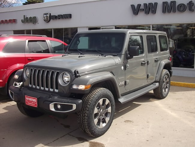 New 2019 Jeep Wrangler UNLIMITED SAHARA 4X4 Sport Utility for sale in Cooperstown, ND at V-W Motors, Inc.