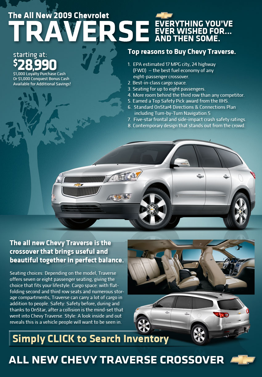The All New 2009 Chevrolet Traverse