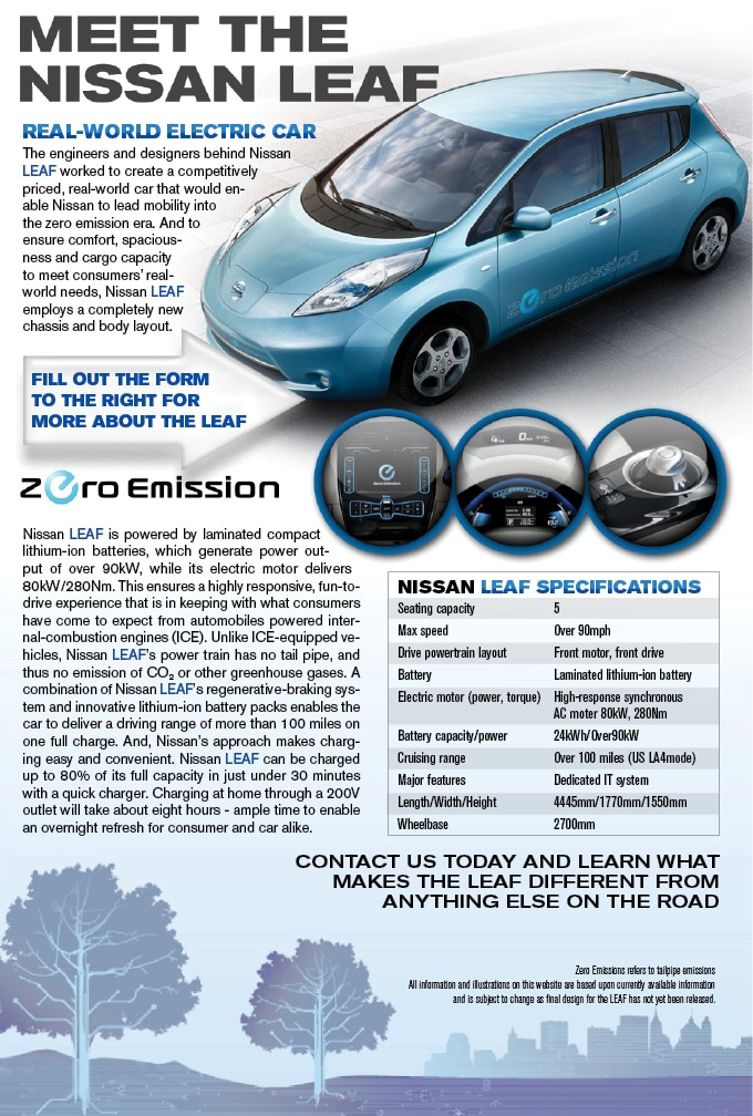Nissan LEAF Peoria Nissan|All-Electric battery Fueled Coming