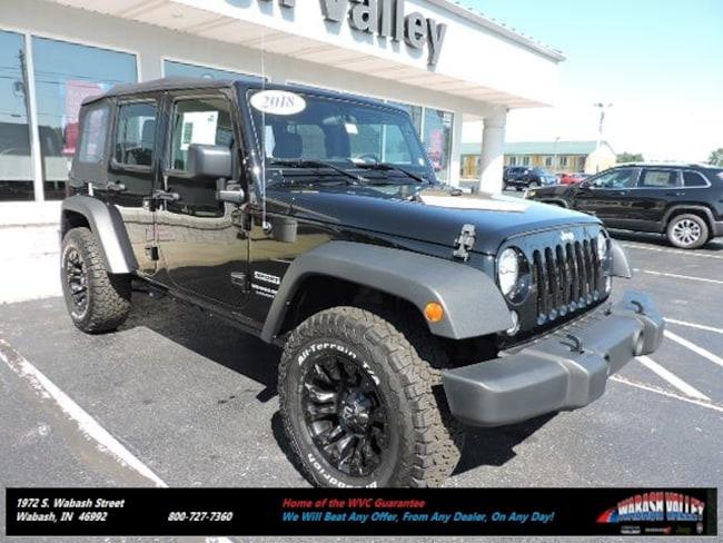 New 2018 Jeep Wrangler Unlimited WRANGLER JK UNLIMITED SPORT 4X4 Sport Utility Wabash, IN