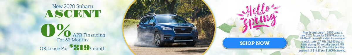 New 2020 Subaru Ascent - May Special