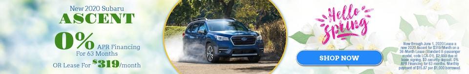 New 2020 Subaru Ascent - May Special