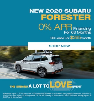 August - 2020 Subaru Forester