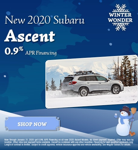 New 2020 Subaru Ascent - January Special