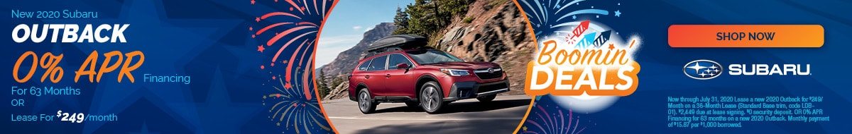 New 2020 Subaru Outback - July Special